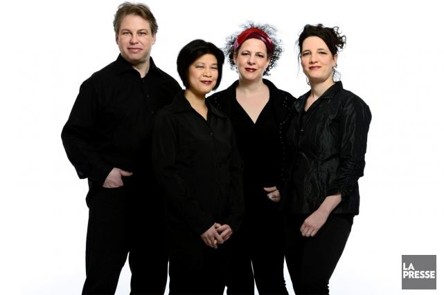 Le Quatuor Bozzini marque ce soir et demain, à Montréal, la tenue de son Salon... (Photo: fournie par le Quatuor Bozzini)