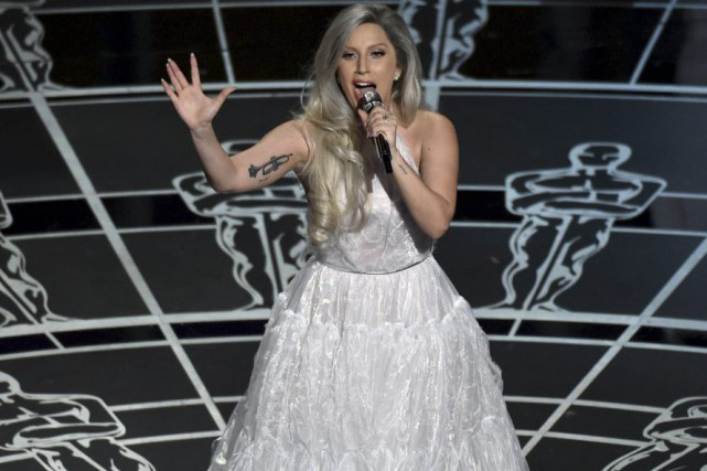 Lady Gaga aux Oscars en février dernier.... (Photo: archives AP)