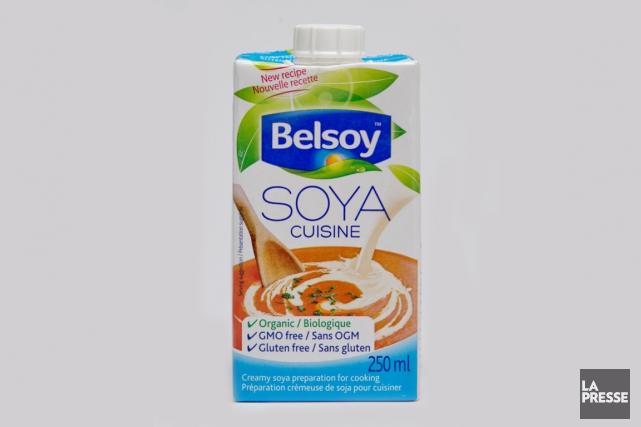Cette préparation de soja peut remplacer la crème (15% à 35%) dans les potages,... (Photo David Boily, La Presse)