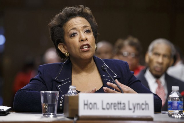 Loretta Lynch a attendu le vote de confirmation... (PHOTO J. SCOTT APPLEWHITE, ARCHIVES AP)
