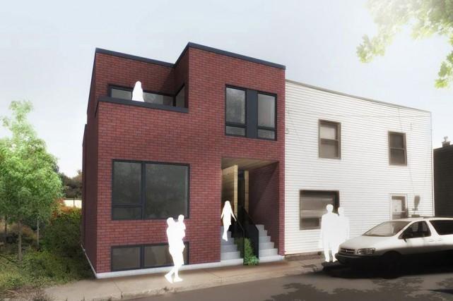 Les Bâtisseuses contribueront notamment à construire ces deux... (Illustration fournie par Guillaume Lévesque architecte)