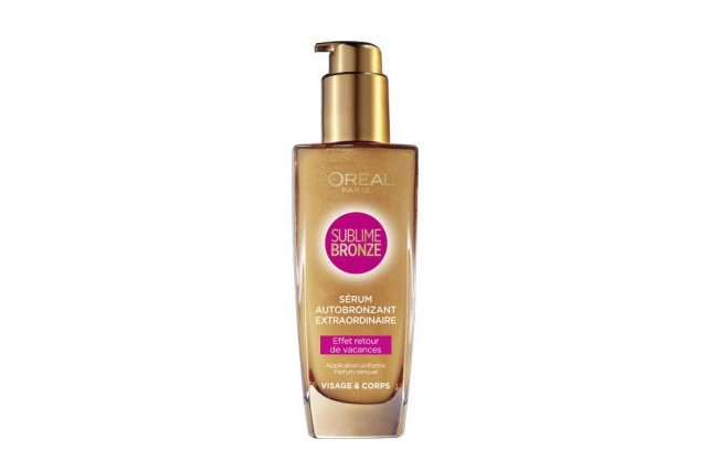 Sérum autobronzant Sublime Bronze de L'Oréal Paris, 17,99$... (Photo fournie par le fabricant)
