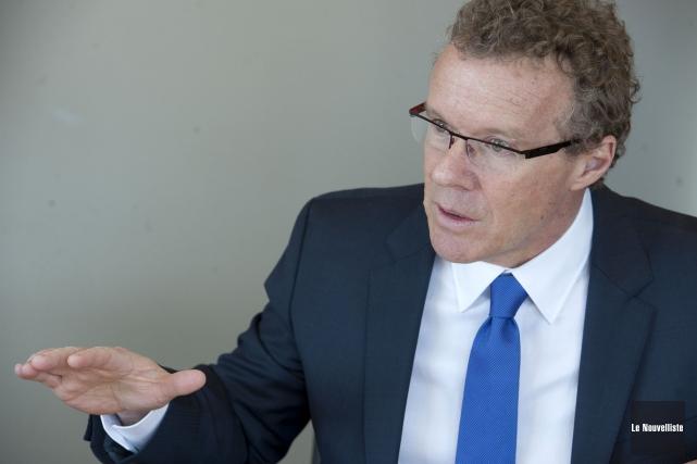 Le président du conseil d'administration de Centraide Mauricie,... (Photo: Stéphane Lessard Le Nouvelliste)