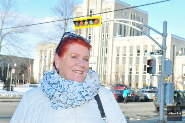 Diane Borgia, porte-parole de Shawinigan citoyens avertis, invite... (Photo: Émilie O'Connor Le Nouvelliste)