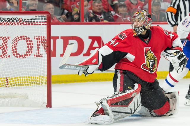 Craig Anderson a été étincelant au Centre Bell... (PHOTO MARC DESROSIERS, USA TODAY)