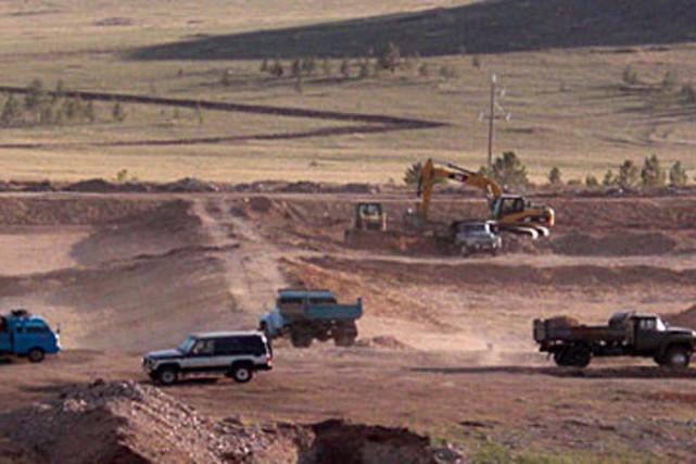 Un projet de Khan Resources en Mongolie.... (PHOTO FOURNIE PAR KHAN RESOURCES)