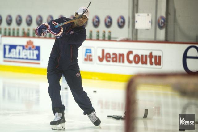 MaxPacioretty s'est contenté de quelques coups de patin... (PHOTO FRANÇOIS ROY, LA PRESSE)