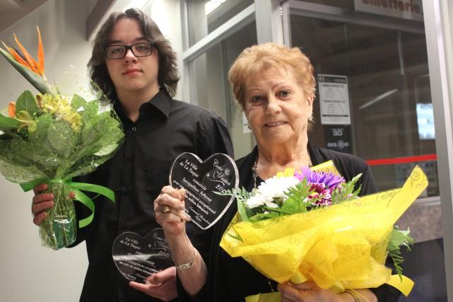 Gabriel Bernier et Jaqueline Arbour.... (Photo: Audrey Tremblay)