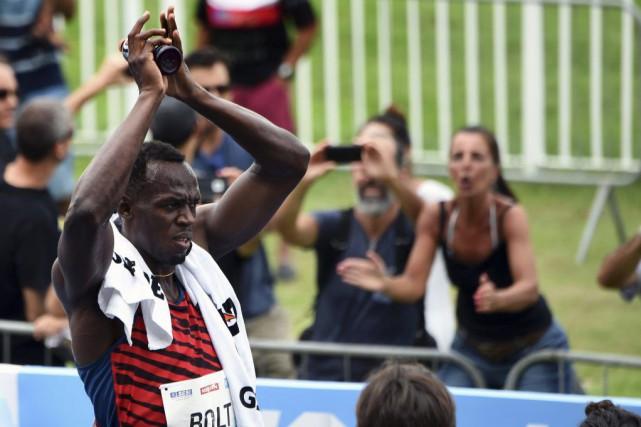 Bolt, sextuple médaillé d'or olympique et détenteur des... (PHOTO VANDERLEI ALMEIDA, AFP)