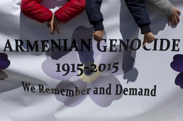 Le 24 avril 2015 marque le 100e anniversaire du génocide arménien. Les... (Photo AP)