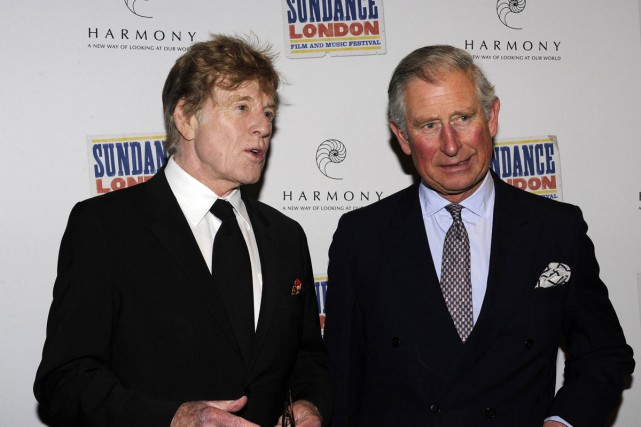 Robert Redford en compagnie du prince Charles à... (Photo: archives Reuters)