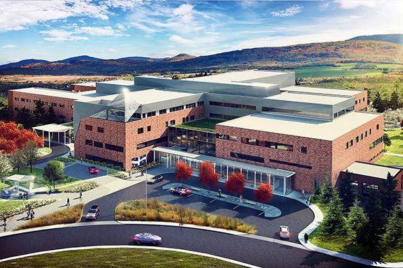 Voilà de quoi aura l'air le nouvel hôpital... (Image fournie par le Ministère de la santé et des services sociaux)