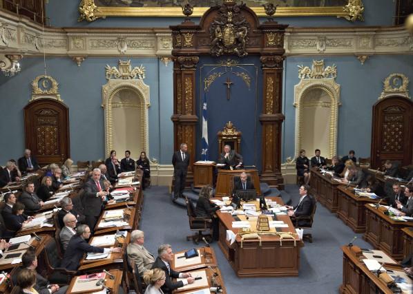 Les femmes sont peu présentes en politique, point.... (Photo Jacques Boissinot, La Presse Canadienne)