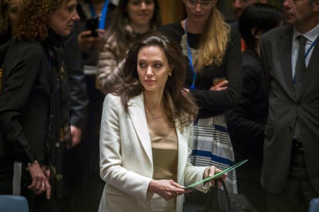 Angelina Jolie estintervenue vendredi devant le Conseil de... (PHOTO LUCAS JACKSON, REUTERS)