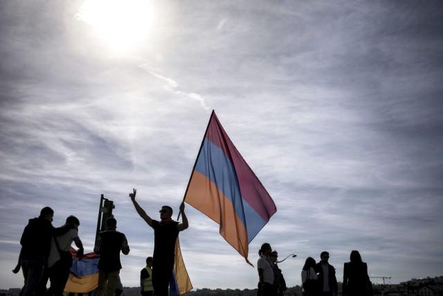 Plusieurs personnalités politiques ont assisté vendredi, en Arménie, à la... (Agence France-Presse)