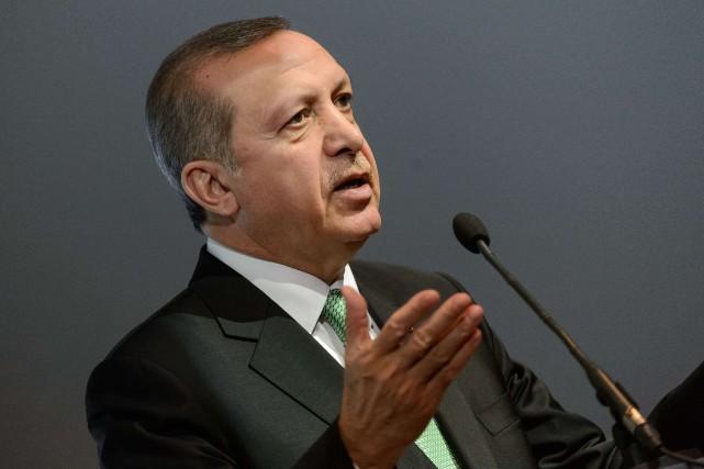 Le président turqueRecep Tayyip Erdogan... (Photo Jure Makovec, archives AFP)