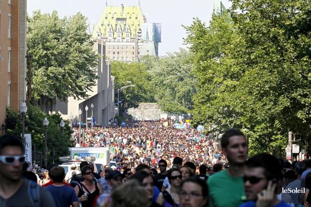La gestion de foule ou le transport sont... (Photothèque Le Soleil, Yan Doublet)