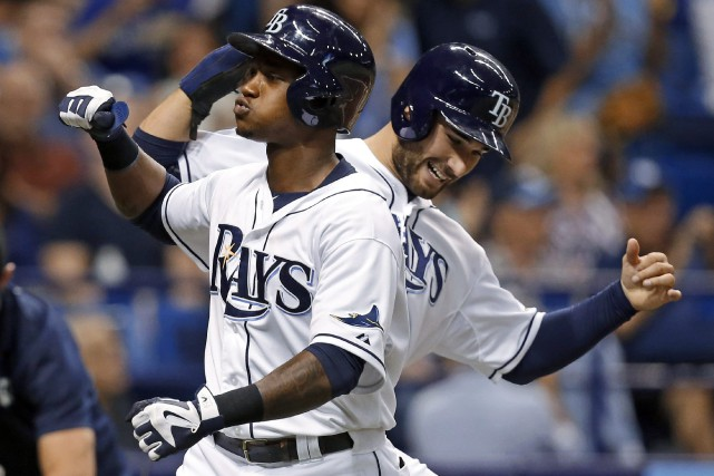 Les Rays de Tampa Bay ont cogné trois... (Photo Mike Carlson, AP)