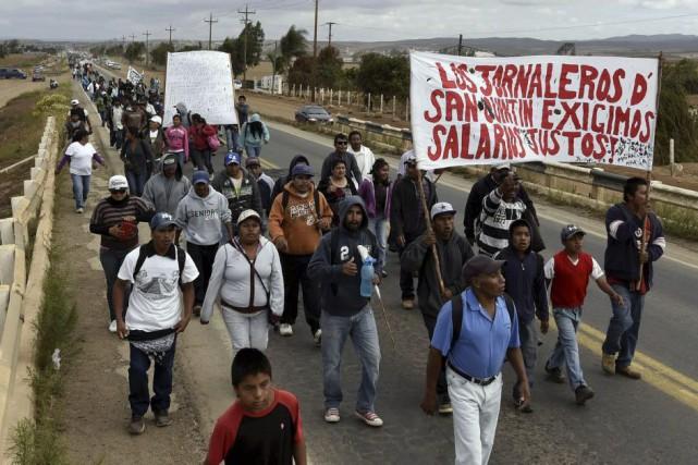 La protestation a eu lieu peu avant une... (Photo AFP)