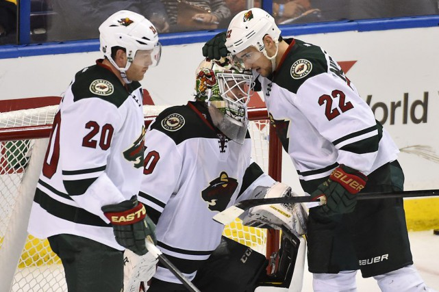 Le Wild tentera d'éliminer les Blues dimanche à... (Photo Jasen Vinlove, USA TODAY Sports)