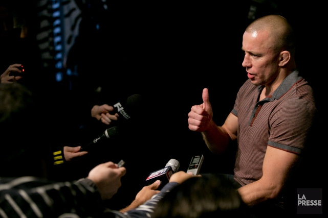 Georges St-Pierre a repris l'entraînement à temps plein,... (PHOTO DAVID BOILY, LA PRESSE)