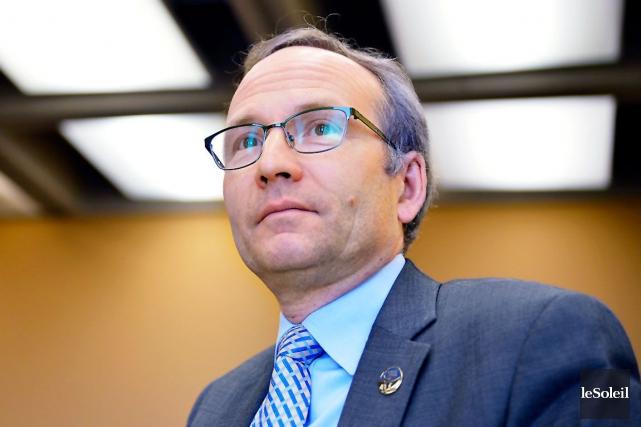 Le président du Conseil du trésor, Martin Coiteux.... (Photothèque Le Soleil, Yan Doublet)
