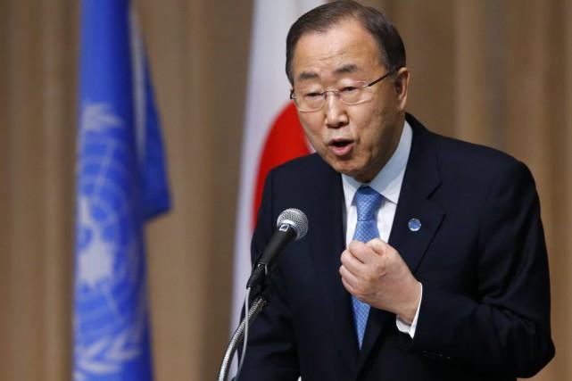 Le secrétaire général de l'ONU assistera aux célébrations,... (PHOTO SHIZUO KAMBAYASHI, ARCHIVES AP)
