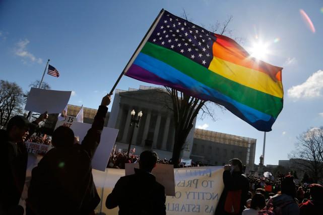 La longue bataille pour le mariage gai aux... (PHOTO JONATHAN ERNST, ARCHIVES REUTERS)