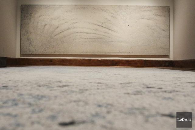 L'installation Poussières, de Josée Dubeau, au Centre d'exposition... (Patrick Woodbury, LeDroit)