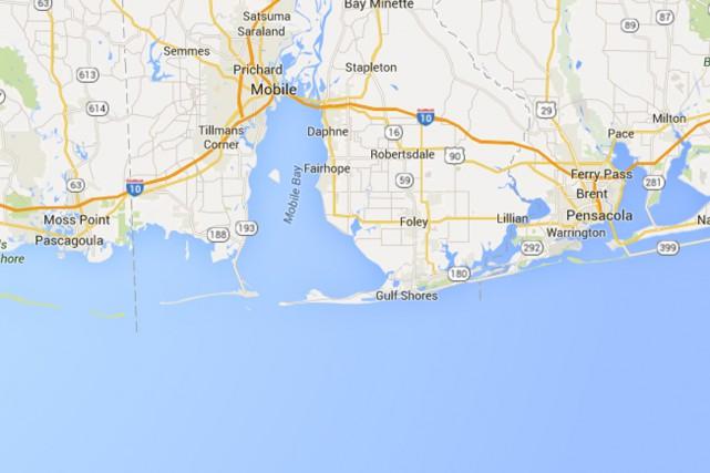 cinq personnes sont portées disparues après que plusieurs... (Photo tirée de Google Maps)