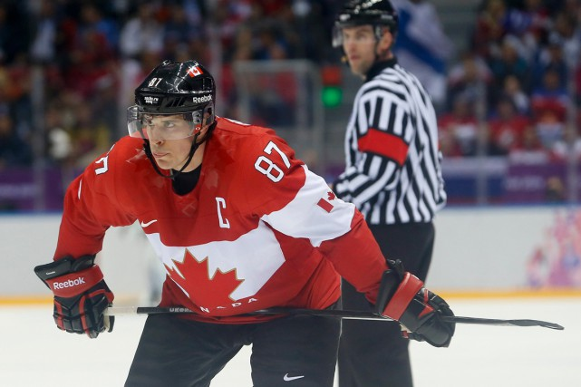 Sidney Crosby a représenté le Canada à sept reprises... (PHOTO MARK HUMPHREYS, ARCHIVES AP)