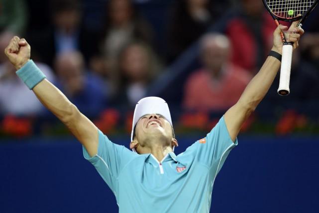 Pour Kei Nishikori, il s'agissait de son deuxième... (PHOTO MANU FERNANDEZ, AP)