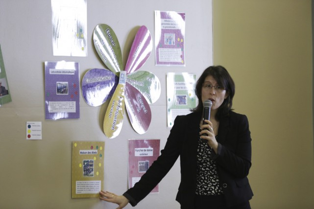 Sophie Foisy, coordonnatrice MADA de Granby, a présenté... (photo Catherine Trudeau)