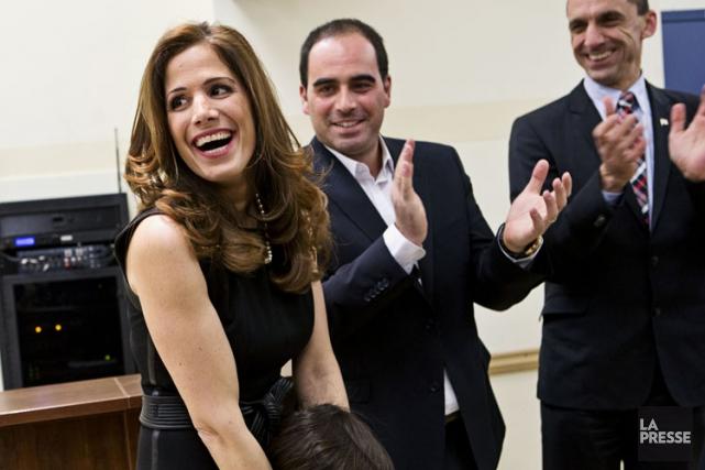 Pascale Déry lors du lancement de sa campagne,... (Photo: Patrick Sanfaçon, La Presse)