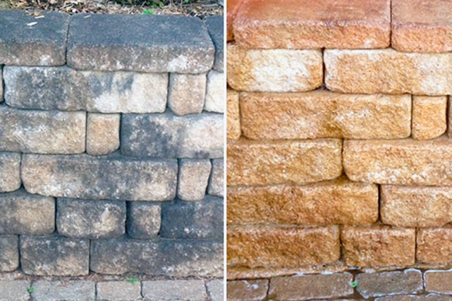 Nassan nettoie les toitures, le béton, la pierre,... (Photo fournie par Nassan)