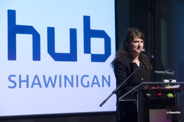 Nancy Déziel, présidente du conseil d'administration de Digihub,... (Photo: Stéphane Lessard Le Nouvelliste)