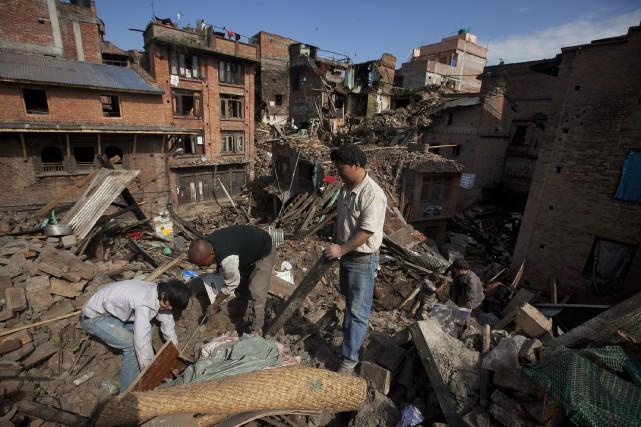 Annik Giguère se rappelle qu'à son arrivée au Népal en 2010, les habitants... (Photo AP)