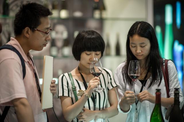 Le vignoble chinois qui représentait moins de 4%... (Photo Philippe Lopez, AFP)