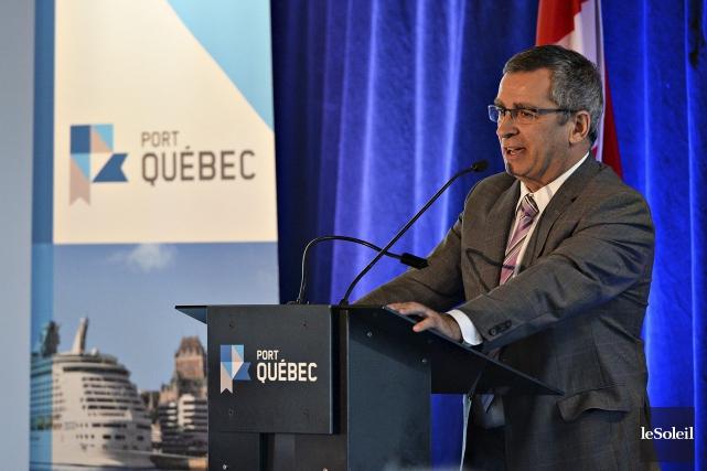 Le président-directeur général de l'Administration portuaire de Québec... (Le Soleil, Patrice Laroche)