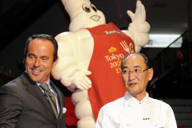 Le restaurant Sushi Mizutani, doublement étoilé auMichelin,a refusé... (PHOTO Yoshikazu TSUNO, archives AFP)