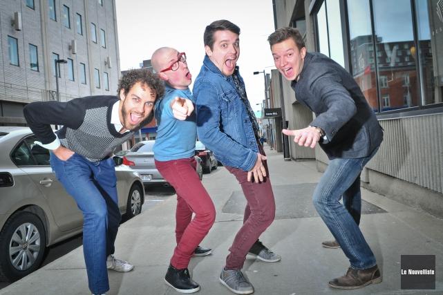 Le quatuor a capella QW4RTZ sera à la... (Photo: Émilie O'Connor Le Nouvelliste)