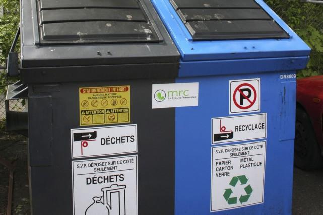 Le volume de matières résiduelles réemployées, recyclées ou... (photo alain dion, archives la voix de l'Est)