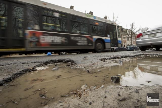 Jusqu'ici, la Ville de Montréal a colmaté 75%... (PHOTO IVANOH DEMERS, LA PRESSE)