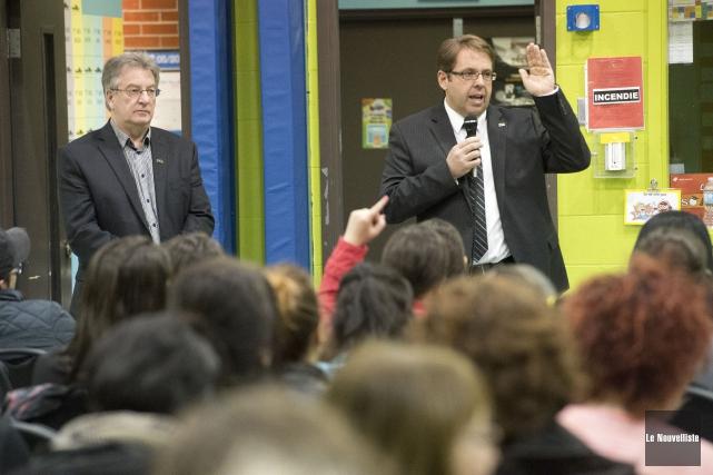 Le président et le directeur général de la... (Photo: Stéphane Lessard Le Nouvelliste)