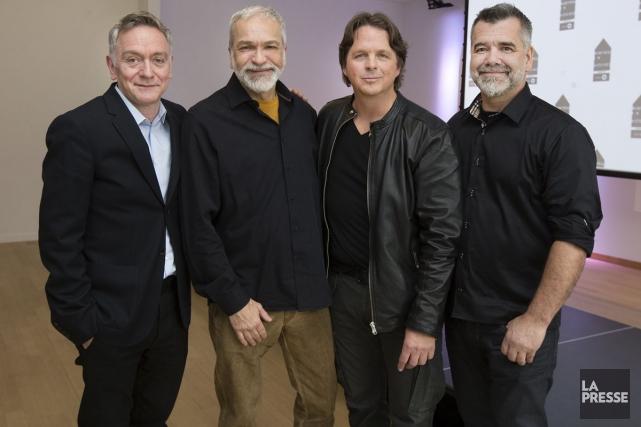 De gauche à droite: le dramaturge Michel Marc... (Photo: Robert Skinner, La Presse)