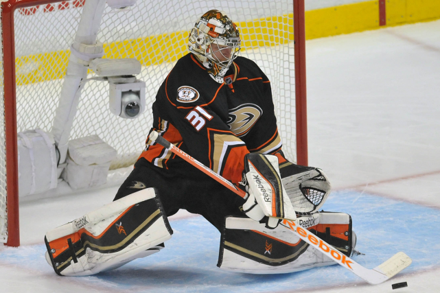 Frederik Andersen a repoussé 109 des 118 tirs... (Photo Gary A. Vasquez, USA Today)