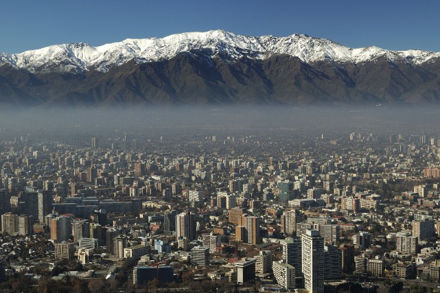 La ville de Santiago, au Chili.... (Photo Digital/Thinkstock)