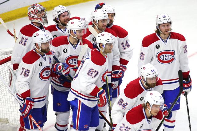 Après avoir éliminé les Sénateurs d'Ottawa, les joueurs... (Photo Jean-Yves Ahern, USA Today)