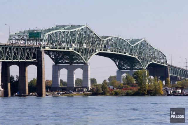 Dans le corridor du pont Champlain, cinq week-ends... (Photothèque La Presse)