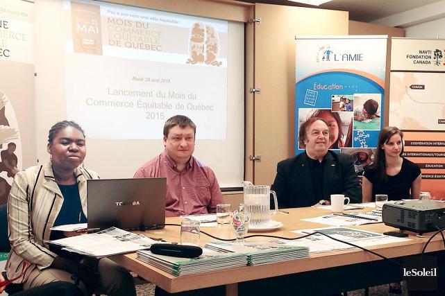 Le comité organisateur du Mois du commerce équitable,... (Le Soleil, Yves Therrien)